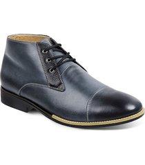 4d9790ff1 bota social para pés largos chukka masculina sandro moscoloni mercanti  azul/cinza