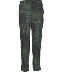 trousers pantalon met rechte pijpen groen diana orving