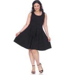white mark women's plus size crystal dress