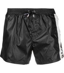 balmain logo-print swim shorts - black
