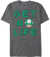 nintendo men's super mario get a life short sleeve t-shirt