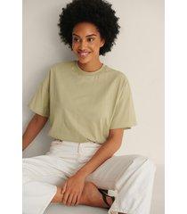 na-kd basic ekologisk oversize t-shirt med 3/4-ärm - green