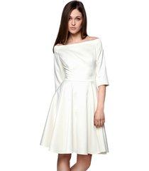 sukienka łódka biała