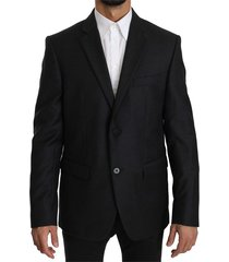 wool slim fit two button jacket blazer