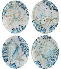 playa shells set of 4 salad plate