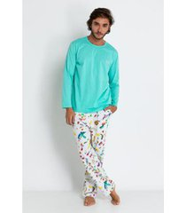 conjunto de pijama acuo longo formiguinha masculino
