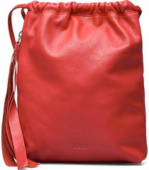mimmi mini drawstring ryggsäck väska röd lumi