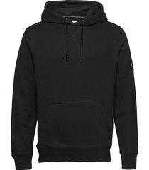 monogram sleeve badg hoodie svart calvin klein jeans