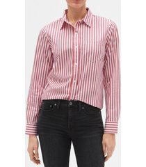 blusa rayas mujer rojo gap