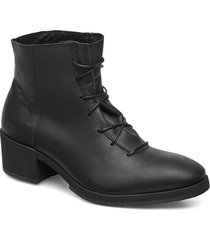 yatfai boot black leather shoes boots ankle boots ankle boots with heel svart gram