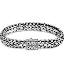 'classic chain' silver woven bracelet