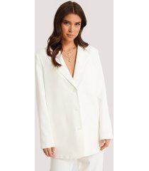 basma & merna x na-kd oversize blazer - white