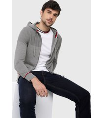 chaqueta gris-rojo-azul tommy hilfiger
