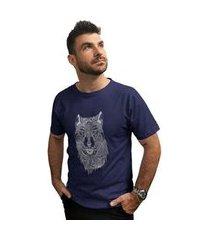camiseta cellos abstract wolf premium masculina