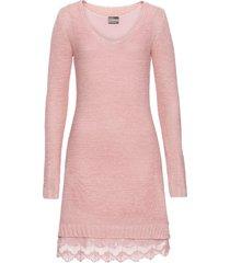 abito in maglia con volant di pizzo (rosa) - rainbow