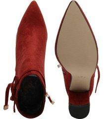 botines para mujer marca paris hilton color rojo paris hilton - rojo