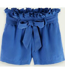 scotch & soda drapey-fit tencel blend belted shorts