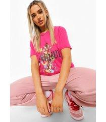 bloemenprint l'amour kerub t-shirt, hot pink