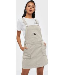 calvin klein jeans utility dungaree dress loose fit dresses