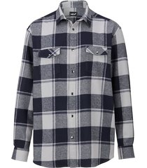 overhemd men plus marine::grijs