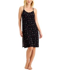 jenni printed long chemise nightgown, created for macy's