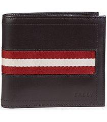 tollen striped leather bi-fold wallet