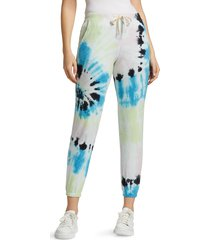 electric & rose women's wave tie-dye joggers - balboa blue - size xs