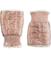 isotoner signature women's quilted fingerless glove cozies