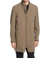 men's boss deean men's stretch coat, size 48 - brown