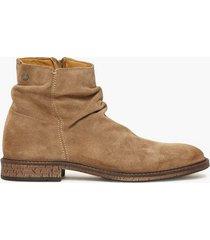jack & jones jfwrukka suede zip greige chelsea boots grå