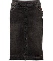 high waist skirt - final hour knälång kjol svart scotch & soda