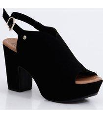 sandália feminina open boot meia pata bebecê