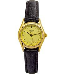 reloj casio ltp_1094q_9ar marrón cuero