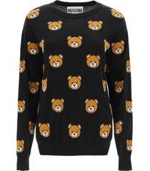 moschino teddy bear intarsia sweater