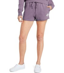 women's dickies french terry sweat shorts, size x-large - purple