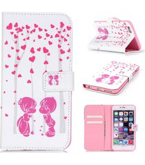 iphone6 plus case,iphone 6s plus case,xyx [couple love] - [kickstand][wallet][ca