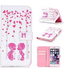 iphone6 plus case,iphone 6s plus case,xyx [couple love] - [kickstand][wallet][ca