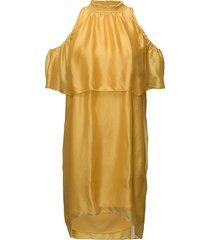 dream halter dress knälång klänning gul designers, remix