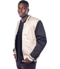 chaqueta bomber beige impermeable