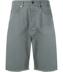 nº21 wide-leg denim bermuda shorts - blue