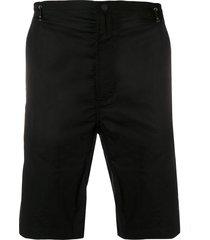 maharishi embroidered tiger shorts - black