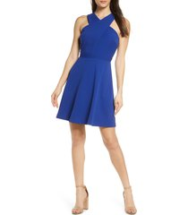 women's sam edelman cross front a-line dress