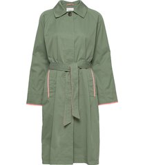 coats woven trench coat rock grön edc by esprit