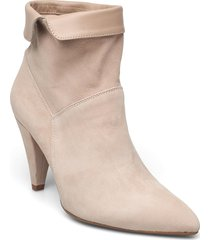 25300 shoes boots ankle boots ankle boot - heel beige gold