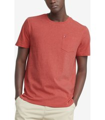 tommy hilfiger men's big & tall tommy crew neck pocket t-shirt