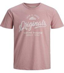 jack & jones men's logo tee shirt