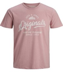 jack & jones men's logo tee shirt