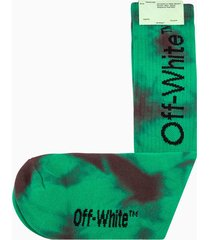 off-white tie dye diag mid length socks omra001s20120022