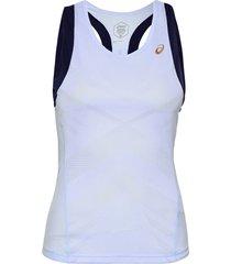 tennis w tank t-shirts & tops sleeveless blå asics