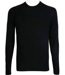 camiseta alkary manga longa preta